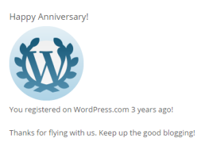 3 tahun blog